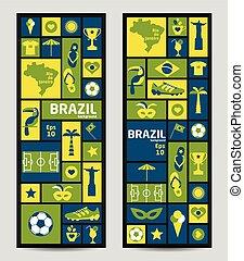 brésil, vecteur, illustration