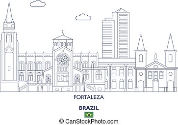 brésil, ville, fortaleza, horizon