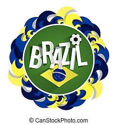 brésilien, football, écusson, équipe