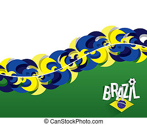 brésilien, football, fond, équipe