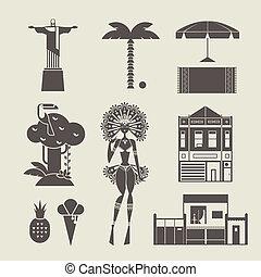 brésilien, icônes
