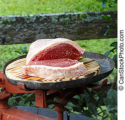 brésilien, picanha, barbecue., traditionnel