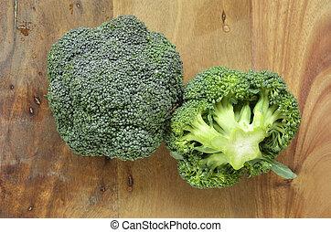 brócolos, coroas
