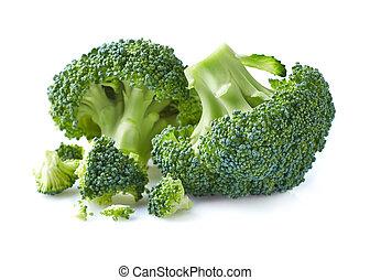 brócolos, em, closeup