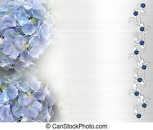 bröllop inbjudan, hortensia, bg