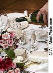 bröllop, mat och dryck