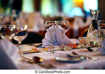 bröllop, restaurang