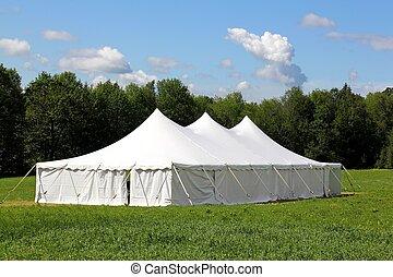 bröllop, tält