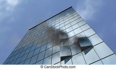 brûlé, bâtiment.