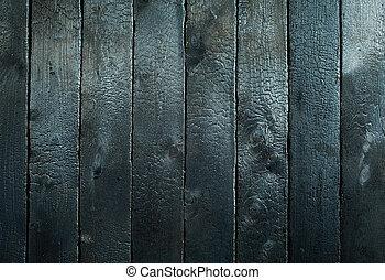 brûlé, bois, fond, texture, noirci