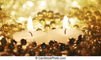 brûlé, bougies, seamless, poussière, fée, boucle