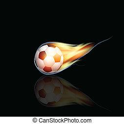 brûlé, boule football