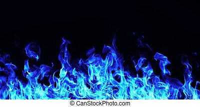 brûlé, brûler, flamme, blanc, fond