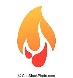 brûlé, brûler, flamme, conception, graphique