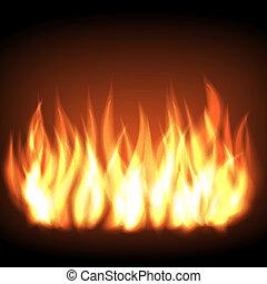 brûlé, brûler, flamme