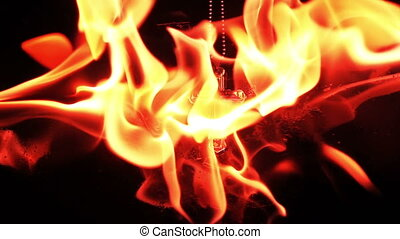 brûlé, brûler, symbole, croix, christianisme, religion