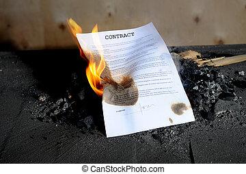 brûlé, contrat
