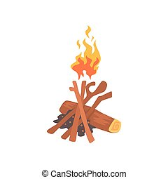 vecteur journaux bord br l illustration feu camp clipart vectoriel rechercher. Black Bedroom Furniture Sets. Home Design Ideas