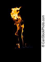 brûlé, flamme