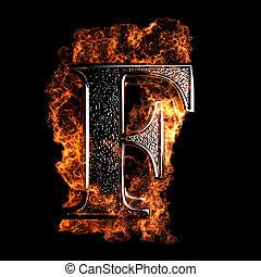 brûlé, lettre