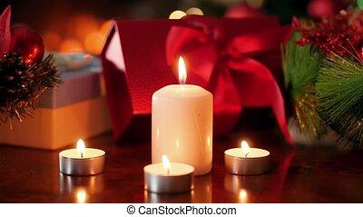 brûlé, présente, ou, contre, année, parfait, bougies, vidéo,...