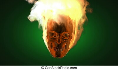 brûlé, skull., alpha, emmêlé