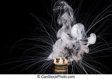 brûlé, vaporizing, gadget, cigarette., e-cig, glycérine,...