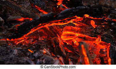 brûler, après, braise
