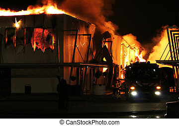 brûler, bâtiment