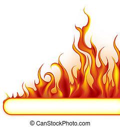 brûler, bannière