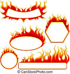 brûler, bannières