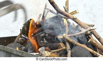 brûler, barbecue, 4k