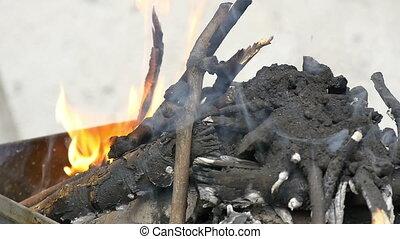 brûler, barbecue