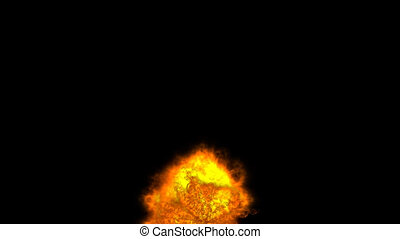 brûler, bas, explosion