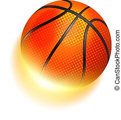 brûler, basket-ball, sport, balle