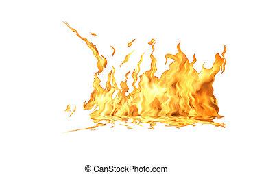 brûler, blanc, flamme