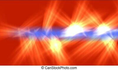 brûler, bleu, l, jet, pinceau lumineux, rouges, rayons
