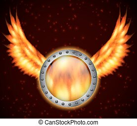 brûler, bouclier, ailes