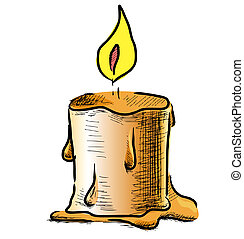 brûler, bougie
