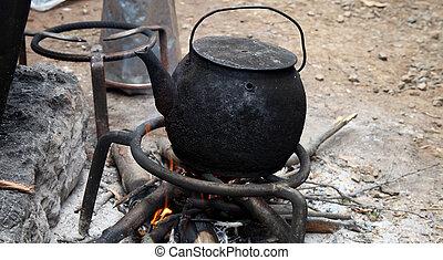 brûler, bouilloire