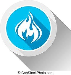 brûler, bouton, Flammes