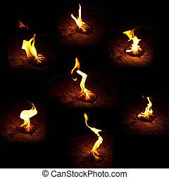 brûler, brûlé, collection
