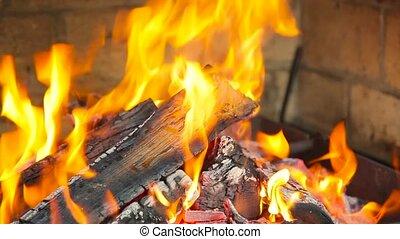 brûler, brûlures, cheminée