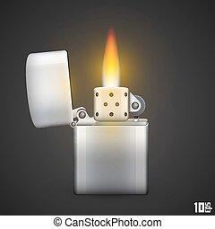 brûler, briquet