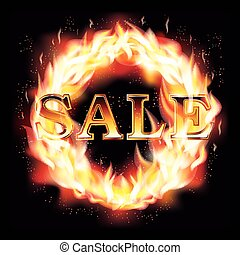brûler, chaud, fond, achats, vente