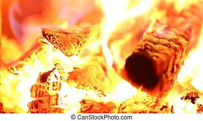 brûler, cheminée, brûlé