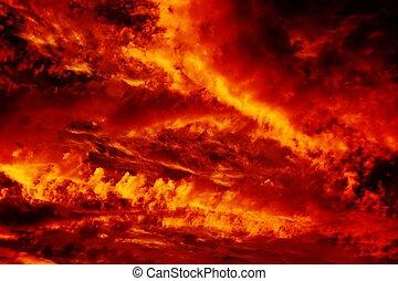 brûler, ciel