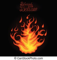 brûler, clair, beltane., béni, night.