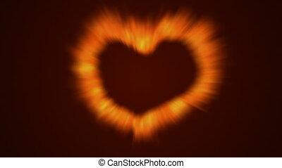 brûler, coeur, amour