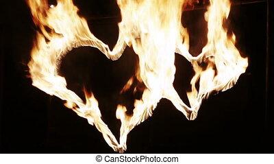 brûler, coeur, brûlé